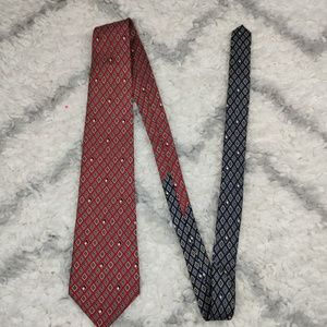 Tommy Hilfiger 100% Italian Silk Red and Blue
